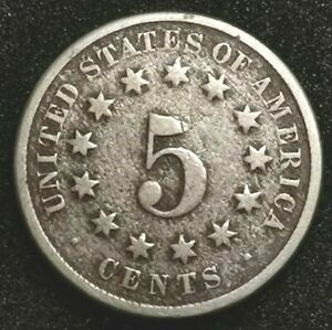 Shield Nickel 5 cents 1874 UNITED STATES (496B)