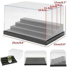 """Clear Acrylic Plastic Display Box Case Protection 4 Steps Toys Dustproof 10x6x7"""""""