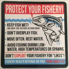 "FISHING STICKER ""PROTECT YOUR FISHERY"""