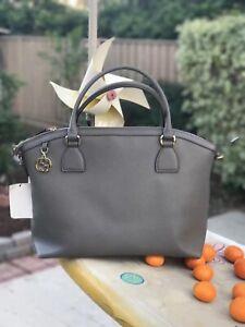 NWT GUCCI Handbag  449651 leather gray