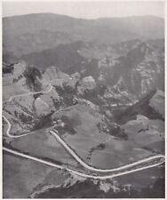D5978 Mandrioli - Strada tortuosa per il Passo - Stampa d'epoca - 1933 old print