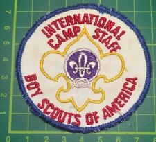 Rare International Camp Staff Boy Scouts Of America USA Scout Badge. Sew blanket