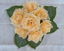 Rosenstrauß /  Seidenblumen - Blumenstrauß vanille