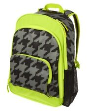GYMBOREE LIME N GRAY HOUNDSTOOTH BACKPACK  NWT