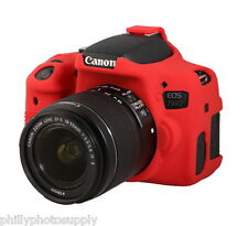 easyCover Armor Protective Skin for Canon EOS Rebel T6i / 750D - (Red)