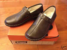 NIB New Propet Bronco Brown Catalina Leather Slip-on Loafer Shoes sz 6.5 M