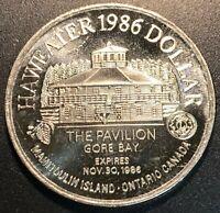 Home of the Bluenose Lunenburg NS Trade Dollar Token 1981