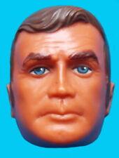 "1977 BIONIC MAN MASKATRON 13"" kenner doll -- STEVE AUSTIN MASK w Dark Brown Hair"