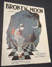Broken Moon Art Deco Sheet Music Theatre Man Artist Buren Crescent Moon