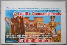 Affiche LES 10 COMMANDEMENTS Ten Commandments DE MILLE Heston Aff. Belge 1956