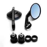 "Pair Black Motorcycle Round 7/8"" Handle Bar End Handlebar Rearview Mirrors"