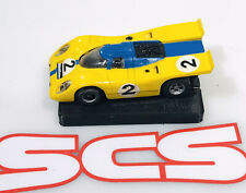 aurora afx magnatraction Flamethrower Porshe 917k Blue/yellow #2 Ho Slot Car