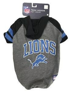 DETROIT LIONS NFL Dog Hoodie T-Shirt Football Fan Pet Gear Hooded Tee Shirt
