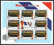 Guyana 3275-3306 & 3317-3324, 1998 World Cup, Sheets of 8, NH Mint, CV $140