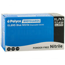 Box of 100 Bodyguard Blue Nitrile Powder Free Disposable Gloves