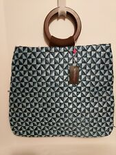 Echo Design Woven Geometric Print Tote Carry-All Bag Brand New