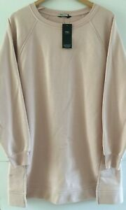 Pink Women's Long Casual Cotton Mix Jumper RRP £29.50 in sizes UK14, 16, 18 & 20