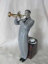 LLADRO JAZZ TRUMPETER BRAND NEW IN BOX #9329 BLACK MUSICIAN LARGE SAVE$ F/SH