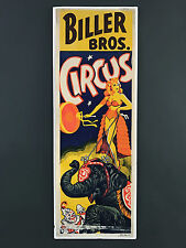 More details for vintage circus  poster , advertising, fairground, clown 355mm x 1028mm