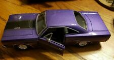 "maisto 1970 plymouth gtx 440+6 1/25th diecast purple color ""plum crazy"""