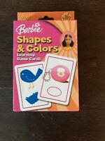 Barbie Shapes & Colors Learning Game Cards- Ages 3 and Up- 36 Cards