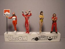 4  FIGURINES  1/43  SET 378  F1  GRID  GIRLS  VROOM  UNPAINTED  A PEINDRE  SPARK