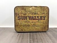 AUTHENTIC TIN PLAYERS SUN VALLEY LIGHT STRENGTH TOBACCO VINTAGE TOBACCIANA