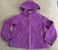 Snozu Girls Purple Fleece Lined Winter Hooded Long Sleeve Jacket Pockets XS 5-6