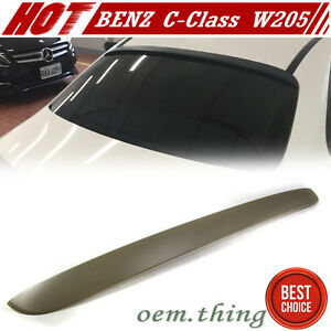 PAINTED Fit FOR Mercedes BENZ W205 C-Class OE Window Roof Spoiler C450 15-20