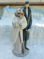 Vintage Retired Bridal Romance Lladro Statue On The Town Sophisticated Couple Ar