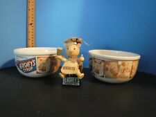 2 HERSHEY'S Syrup Ceramic Stoneware Cereal Soup Ice Cream bowls Houston Harvest