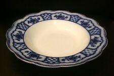 W. H. Grindley Flow Blue Melbourne Flat Soup Bowl