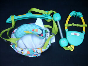 Bright Starts Zig Zag Zebra Animals Baby Babies Door Bouncer Jumper Chair Seat