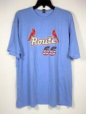 St. Louis Cardinals Route 66 Powder Blue T Shirt Springfield SGA XL