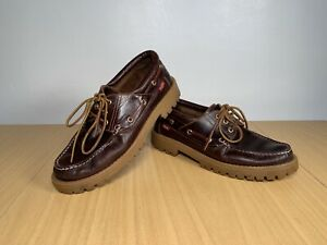 Levi's Leather Brown Women's Boat Shoes UK 6.5 EUR 40