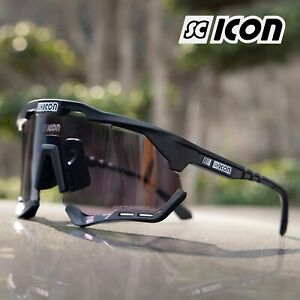 Polarized Cycling Glasses Driving Photochromic Windproof Sunglasses 2 Lenses