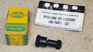 """Greenlee No. 733  1/2"""" D-shape punch - knockout"""