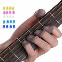 Useful 4Pc Guitar Fingertip Protectors Silicone Finger Guards Guitar Thumb Picks