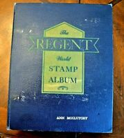CatalinaStamps: Regent World Stamp Album, Grossman 1958 w/3500 Stamps, D28