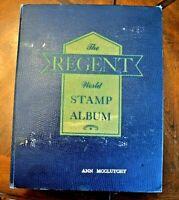 CatalinaStamps: Regent World Stamp Album, Grossman 1958 w/3500 Stamps, D28