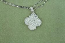 =☬Van=☬ Cleef & Arpels ☬+18k ☬*White Gold Magic Alhambra☬ Diamond Necklace