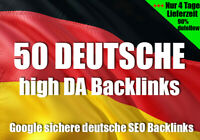 50 Deutsche Backlinks High DA PR SEO Linkaufbau Manuell Suchmaschinenoptimierung