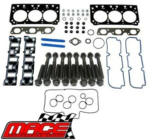 VRS GASKET SET & HEAD BOLTS FOR HOLDEN COMMODORE VS VT VY ECOTEC L36 3.8L V6