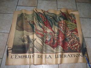 Affiche Emprunt de la libération Guerre 14/18 Défense Nationale Originale