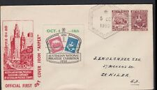 Australia 1950 ANPEX  Philatelic Exhibition 2 Cinderellas on Souvenir Cover