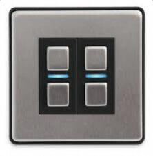 Lightwave LightwaveRF Smart Series Dimmer Switch 2 Gang Stainless Steel L22