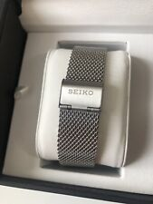 SEIKO STAINLESS STEEL 22mm SHARK MESH WATCH STRAP / BAND / BRACELET