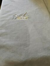 Carters Fleece Baby Boy Blue Bound Blanket Baseball Embroidered Crib Toddler EUC