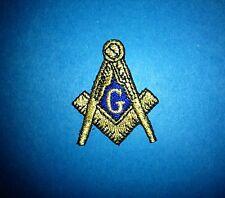 Masonic Freemasons Square & Compass Sew Iron On Hat Jacket Iron On Patch Crest D