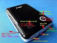 5V 2A USB Mobile Power Bank Black Charger box For 18650 Battery iPhone LED MP4